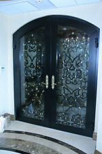 Custom Forged, Double entry way doors, approx. 30 in width each, 7 feet 6 inches