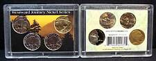 2005-P,D&S plus Gold Plated Buffalo Nickels in Holder!!
