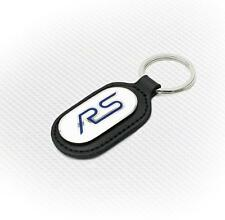 Richbrook Ford RS Key Ring - Black Leather With White & Blue Logo - Free Post