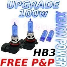Vauxhall Zafira 99on 100w Xenon Main Beam Bulbs HB3+501