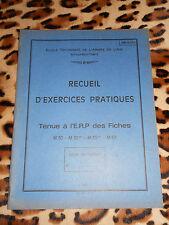Cours Armée de l'Air: Exercices pratiques - tenue à l'E.R.P. des Fiches M30...