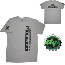 Ford Powerstroke Diesel Tee truck shirt DPP trucker gear 4X4 Light Gray LARGE