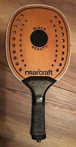 Vintage Marcraft Black Beauty Paddle Racquet