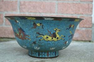 A CHINESE CLOISONNE BOWL, 19TH CENTURY