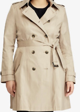 Ralph Lauren Polo Women Cotton Trench Coat Sand USA 1X UK 18/20 ( 31A 33B)