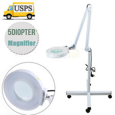 5x Magnifying Lamp Floor Mag Light with Rolling Stand For Salon Spa Equipment