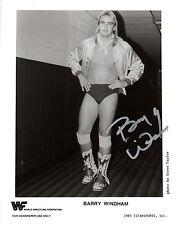 WWF PROMO SIGNED BARRY WINDHAM 1985 WRESTLING PHOTO WWE