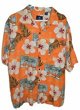 Caribbean Joe Mens Hawaiian Short Sleeve Shirt XL Tropical Island Free Shipping