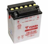 YUASA YB14-A2 Battery with Acid Pack