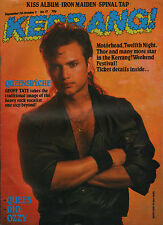 Geoff Tate of Queensryche on Kerrang No. 77 Cover 1984    Queen   Spinal Tap
