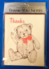 Pack 8 Teddy Bear Thank You Note Cards Envelopes Creative Papers Gibson Sealed