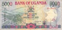 Uganda 5000 Shillings 1993 P-37a - Free to Combine Low Shipping