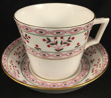 MINT 2 SETS OF ROYAL CROWN DERBY BRITTANY CUPS AND SAUCERS FREE SHIPPING Qty