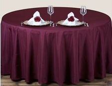 70 inch ROUND TABLECLOTH / TABLE LINENS - BURGUNDY -SHIPS FAST!!
