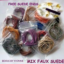 Extremos Libre De Cuero Gamuza Sintética Artificial 10M/Mezcla Paquete Tanga Cuerda de fabricación de joyas