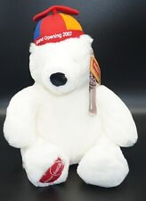 "Coca-Cola Polar Bear Plush 12"" GRAND OPENING 2007 new WOCCA by BOYDS"
