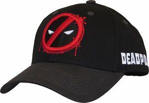 Marvel Comics Deadpool Splash Logo Adjustable Cap