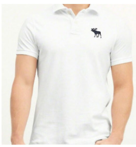 POLO11 ORIGINAL Abercrombie Polo White Shirt For Men