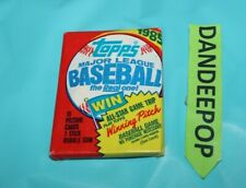 Topps 1985 Baseball Cards Sealed Pack Major League
