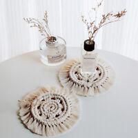 Boho Makramee Untersetzer Rund Weben Baumwolle Tischset Tabelle Mat Party Dekor