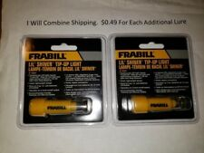 6-20 Lot of 2 Frabill Lil' Shiner Tip-up Light Fish Bite Indicator Ice Fishing