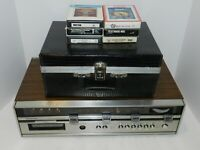 Soundesign 8 Tracks Player Model 4448 + 30 8 Track + RARE Case Beatles WOW