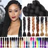 """24""""Ombre Kanekalons Jumbo Braiding Synthetic Hair Extension Twist Braids 25Color"""