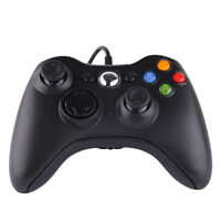 USB Wired Gamepad Game Controller For Microsoft Xbox 360/360 Slim/PC Win10 Black