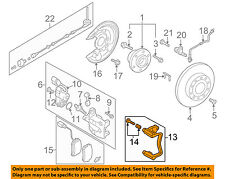 VW VOLKSWAGEN OEM 12-16 Tiguan Brake-Rear-Caliper Mount Right 3AA615426B