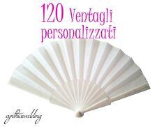 120 Pezzi Ventagli Bianchi Personalizzati Matrimonio Wedding
