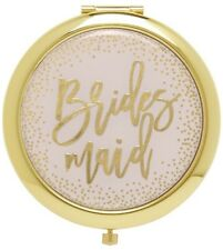 C.R. Gibson Brides Maid Mirror Compact for Makeup, Wedding Gift [Mkom-21781]