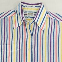 Vintage Eagle Shirtmakers Men's Striped Shirt Size M Medium Lightweight