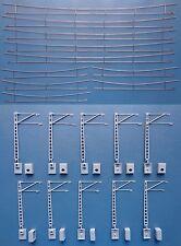 Hobbex OH100, H0 Oberleitung, Flachmaste + Fahrdrähte, für Zick-Zack-Verlegung