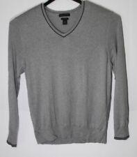 Banana Republic Silk Cotton Cashmere  V Neck Sweater Men's XL Grey Ltweight