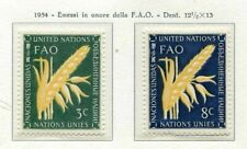 19008) UNITED NATIONS (New York) 1954 MNH** Nuovi** FAO