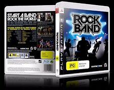 (PS3) Rock Band / Rockband (PG) (Music) Guaranteed, Tested, Australian