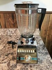 Oster 10 Speed Osterizer Galaxie Cyclomatic Blender Chrome  & Glass Jar Vintage