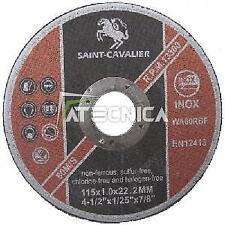Disco da taglio 115 x 1 x 22,23 mm metallo e INOX smerigliatrici flex mole tte
