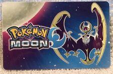 Nintendo 3DS Pokemon Moon Lunala Moone Pokémon Gift Card 2016 Collectible