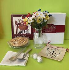 '94 American Girl Doll Addy's Birthday Story Cherry Pie Pan Banner Flowers Vase