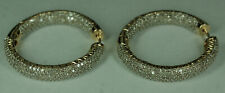 Ladies 14K Yellow Gold 2.8 CTW Diamond Front Back Inside Out Hoop Earrings