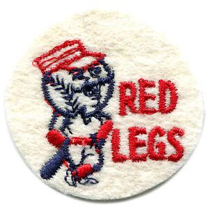 "1960'S ERA CINCINNATI REDS MLB BASEBALL VINTAGE 2"" ROUND TEAM LOGO PATCH"