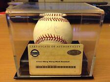 Chien Ming Wang Signed Baseball KANSAS CITY ROYALS YAnkee display case included