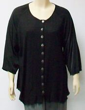 GOZZIP OF DENMARK,SMALL 100% COTTON KNIT TUNIC,BUTTONED FRONT,LAGENLOOK.