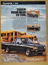 1988 Toyota 1 Ton Pickup Truck home builder photo vintage print Ad