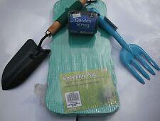 Garden Gardening Hand Trowel-Spade,Fork, 60m String & Foam Kneeling Pad 4pc Set