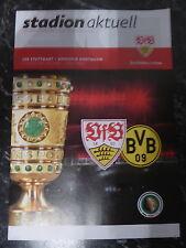 Programm Stadionheft 15/16 VfB Stuttgart Borussia Dortmund DFB-Pokal 9.2.16 BVB