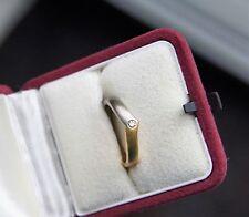 Ring Gold 750/-, Palladium 950/-, Brillant 0,04 ct, Größe 54(17,2)Gew. ca. 4,2 g