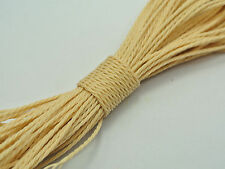 50 Meters Beige Waxed Polyester Twisted Cord String Thread Line 1mm