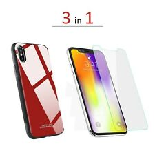 Pc Glass iPhone Xs, Xs Max, Xr Tpu Case, Protective Mirror Back + 2 pack glasses